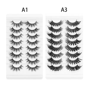 8 Pairs  Mink Natural Wispy Fluffy Dramatic  Volume Handmade Cruelty-free Eyelash