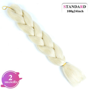 24inch Long Synthetic Crochet Jumbo Braid Ombre  Kanekalon Braiding Hair Extension