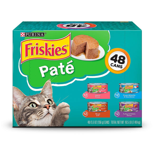 Friskies Purina Classic Pate, Variety Pack (5.5 oz, 48 ct.) (2 Pack)