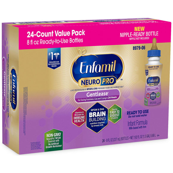 Enfamil NeuroPro Gentlease Infant Formula with Iron, Ready-to-Feed (8 fl. oz., 24 pk.)