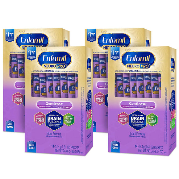 Enfamil NeuroPro Gentlease Infant Formula, Single Serve Powder (17.6 g, 56 ct.)
