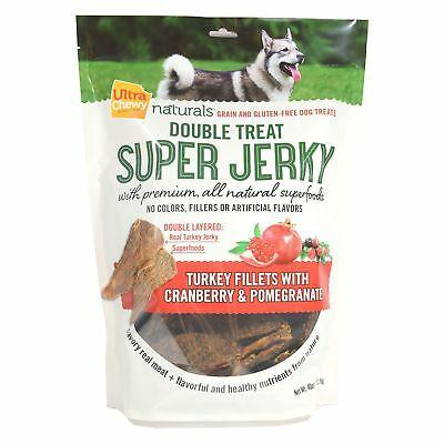 2 Pack Ultra Chewy Naturals Super Jerky,Turkey Fillets with Cranberry & Pomegranate(40 oz Each)