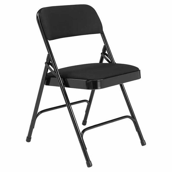 National Public Seating Upholstered Folding Chair, 4-Pack