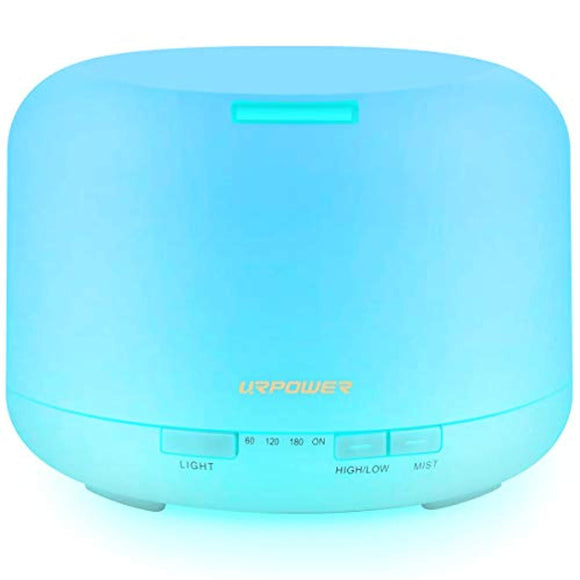 URPOWER 500ML Essential Oil Diffuser Humidifiers Ultrasonic Aromatherapy Diffusers
