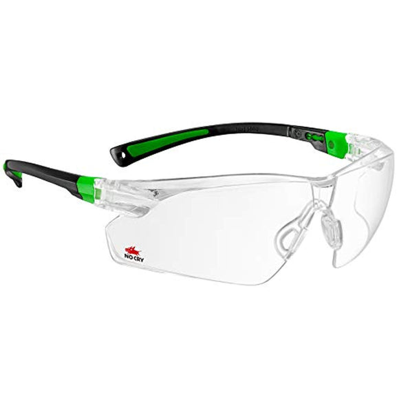 NoCry Safety Glasses with Clear Anti Fog Scratch Resistant Wrap-Around Lenses