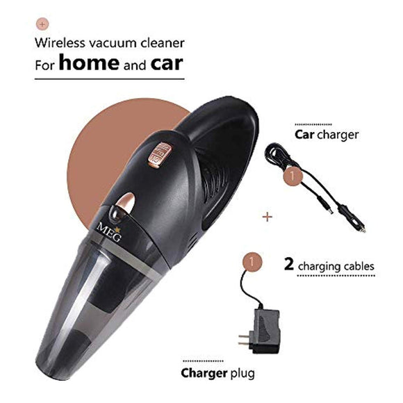 MEG Handheld Car Vacuum Cordless, Rechargeable,106W Lithium Battery, Small&Lightweight