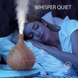Essential Oil Diffuser, Anjou 500ml Cool Mist Humidifier Wood Grain Aromatherapy Diffuser