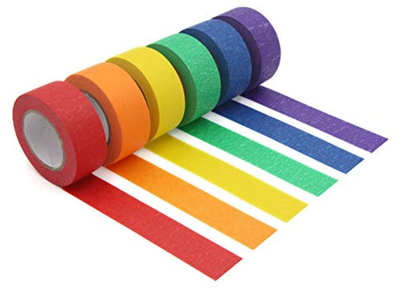 Colored Masking Tape,Colored Painters Tape for Arts & Crafts