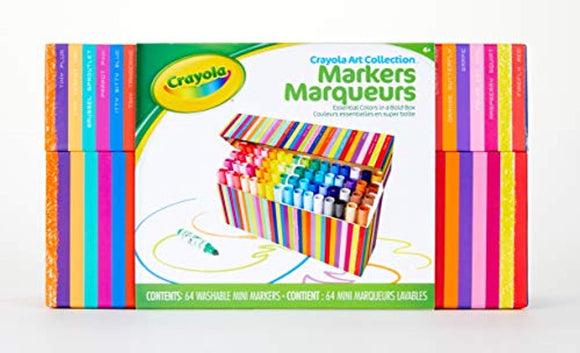 Crayola Pip Squeaks Kids' Marker Collection, Washable Mini Markers, 64Count, Gift for Kids