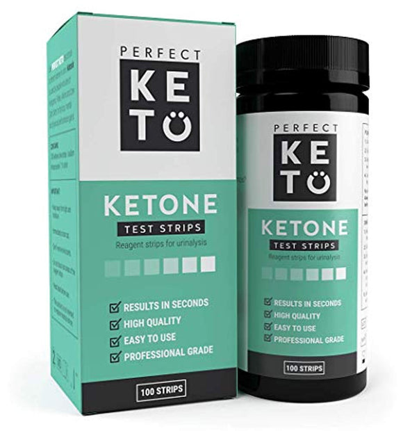 Perfect Keto Ketone Testing Strips: Test Ketosis Levels on Low Carb Ketogenic Diet