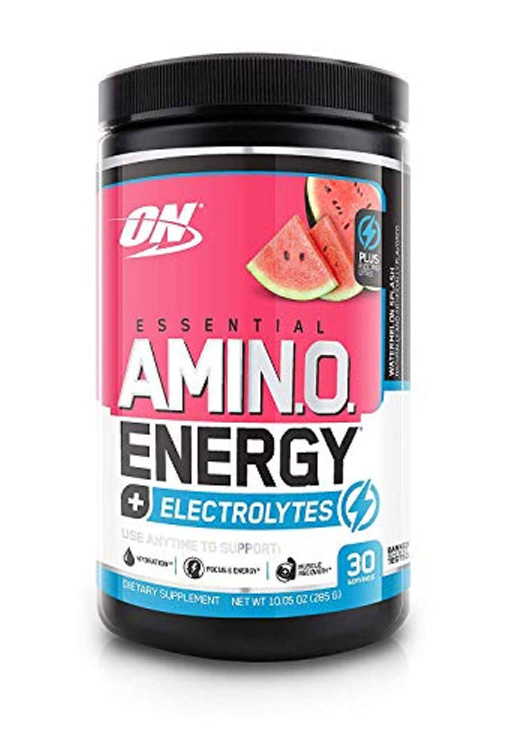 OPTIMUM NUTRITION ESSENTIAL AMINO ENERGY + Electrolytes, Watermelon Splash, Preworkout and Essential Amino Acids, 30 Servings
