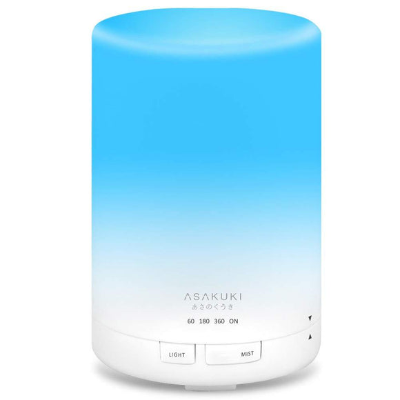 ASAKUKI 300ML Essential Oil Diffuser, Quiet 5-in-1 Premium Humidifier