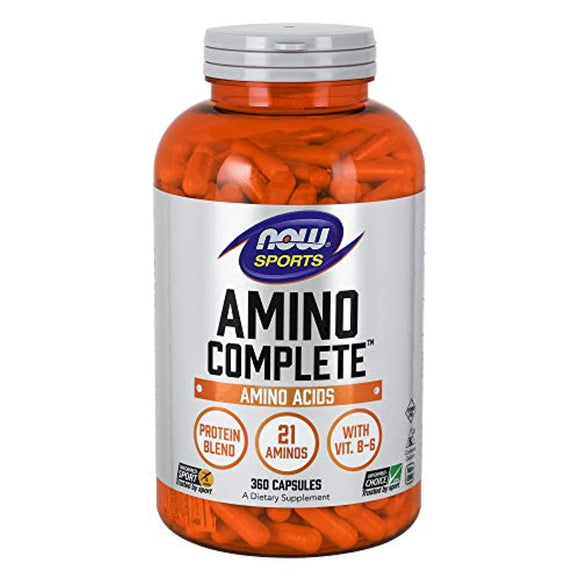 NOW Sports Nutrition, Amino Complete™ with Vitamin B-6, 360 Capsules