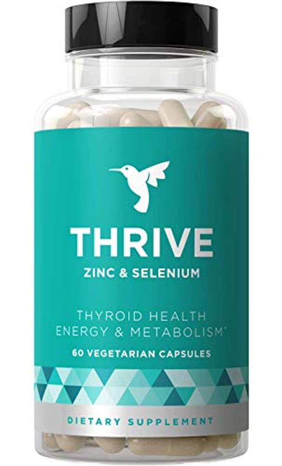 Thrive Thyroid Support & Energy Metabolism – Naturally Fight Fatigue, Balance Hormones