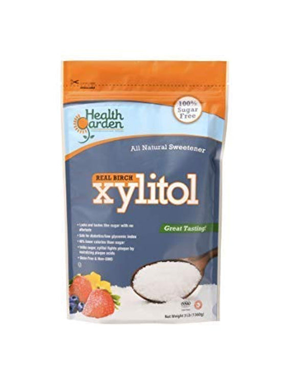 Health Garden Birch Xylitol Sugar Free Sweetener, All Natural Non GMO (Not from Corn (3 Lb)