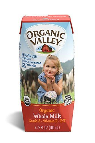Organic Valley, Organic Milk Boxes, Whole Milk, 6.75 oz (Pack of 12)