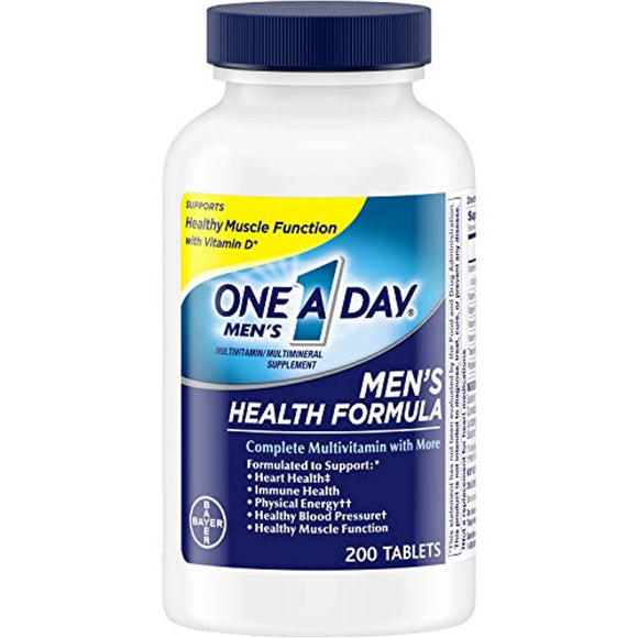 One A Day Men's Multivitamin, Supplement with Vitamins A, C, E, B1, B2, B6, B12, Calcium and Vitamin D, 200 count