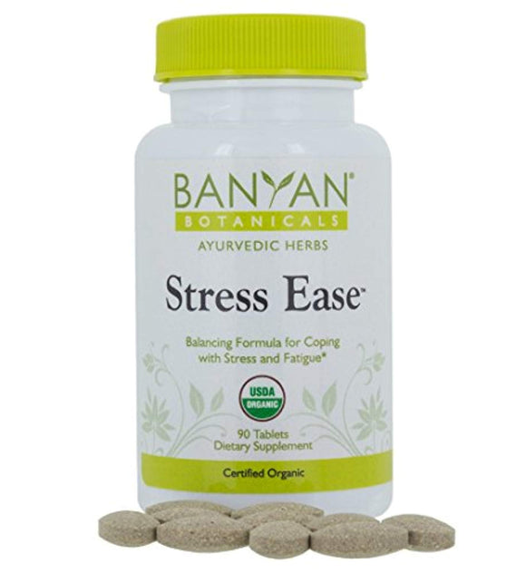 Banyan Botanicals Stress Ease - USDA Organic - 90 tablets