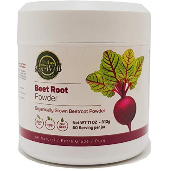 Beet Root Powder | 11oz - 312 g | 100% Pure Beetroot Powder Superfood (Non-GMO) | No Additives