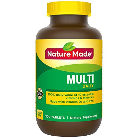 Nature Made Multi Daily Vitamin With Iron and Calcium