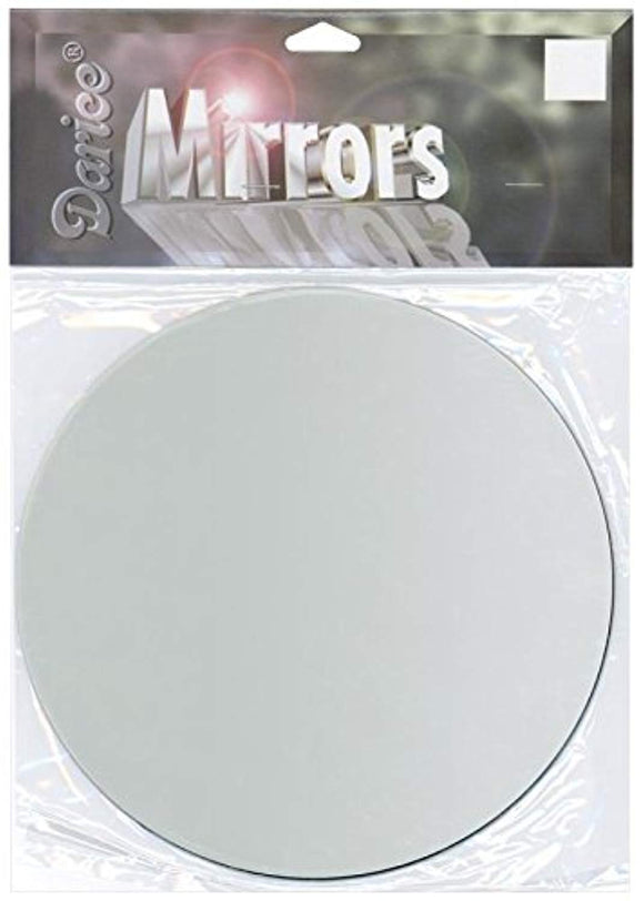 Darice Round Glass Mirror, 6