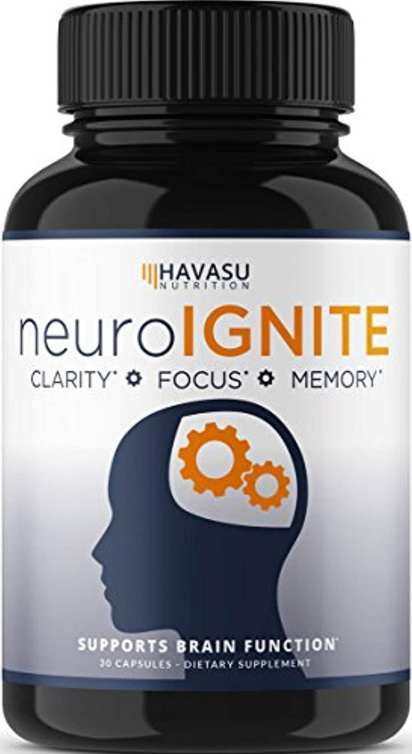 Extra Strength Brain Supplement for Focus, Energy, Memory & Clarity - Mental Performance Nootropic with Super Ginkgo Biloba