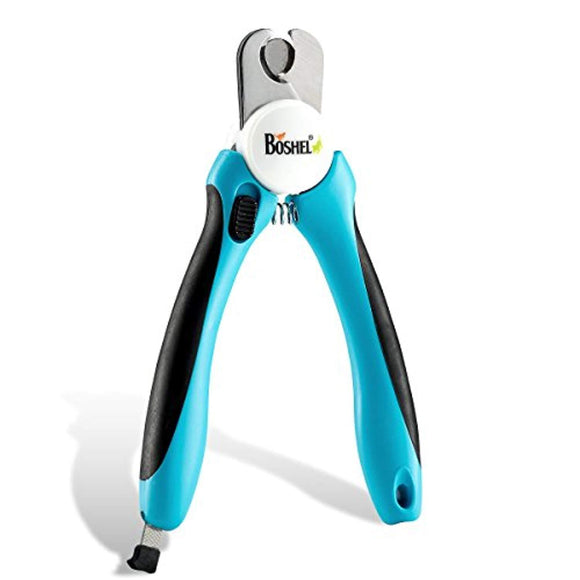 Dog Nail Clippers and Trimmer By Boshel - With Safety Guard to Avoid Over-cutting Nails & Free Nail File - Razor Sharp Blades