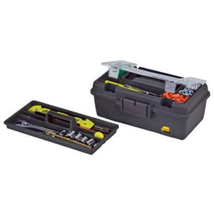 Plano 114-002 Compact Tool Box, Graphite Gray with Black Handle and Latches