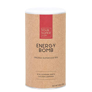 Energy Bomb Superfood Mix by Your Super | Plant-Based Energizing Powder | Coffee & Energy Drink Replacement