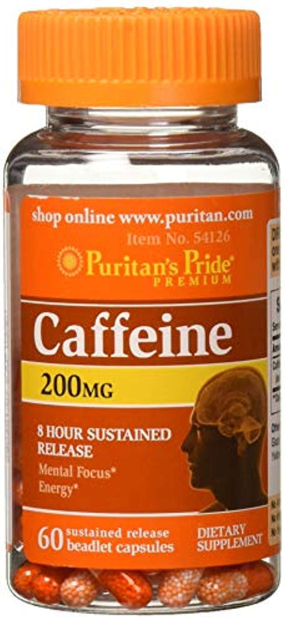 Puritans Pride Caffeine 200 Mg 8-Hour Sustained Release, 60 Count