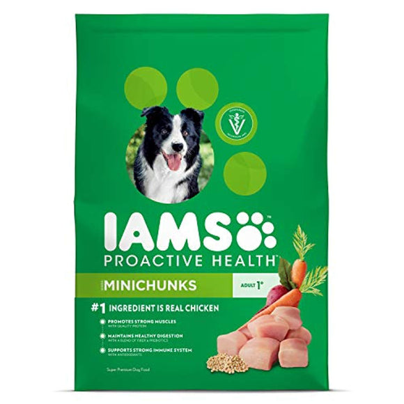 Iams Proactive Health Adult Minichunks Dry Dog Food Chicken, 40 Lb. Bag