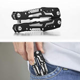 Multitool with Safety Locking, Stainless Steel Multitool Pliers Pocket Knife with Nylon Sheath