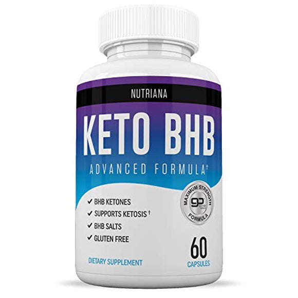 Nutriana Keto Diet BHB Pills - Ketogenic Keto Pills for Women and Men - Keto Supplement BHB Salts