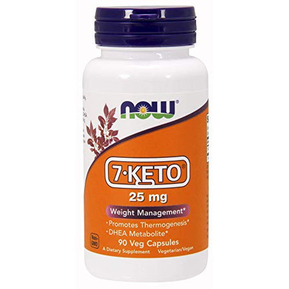 NOW 7-Keto 25mg, 90 Veg Capsules