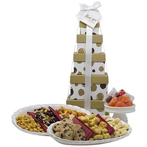 "Thank You Gift Basket - Box Tower 16"" - 6 Tier"