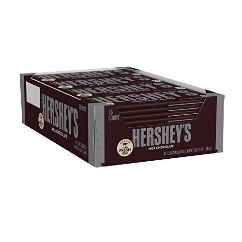 HERSHEY'S Chocolate Candy Bars, 1.55 Ounce (Pack of 36)