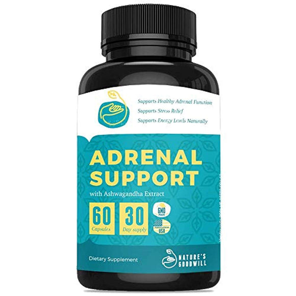 Premium Adrenal Support Supplements & Cortisol Manager to Support Adrenal Fatigue, Cortisol Calm & Anxiety Relief with Ashwagandha