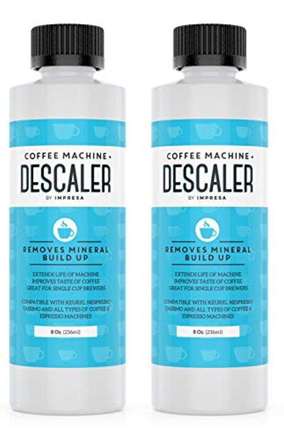 Descaler (2 Pack, 2 Uses Per Bottle)Universal Descaling Solution for Keurig