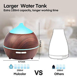 Mulcolor Essential Oil Diffuser, 2Pack 250ml Aromatherapy Diffuser for Essential Oils, Aroma Oil Diffuser Humidifier