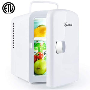 AstroAI Mini Fridge Portable AC/DC Powered Thermoelectric System Cooler and Warmer