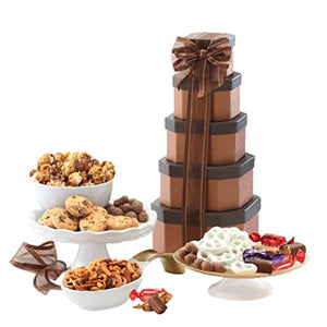 Broadway Basketeers Gift Tower of Sweets