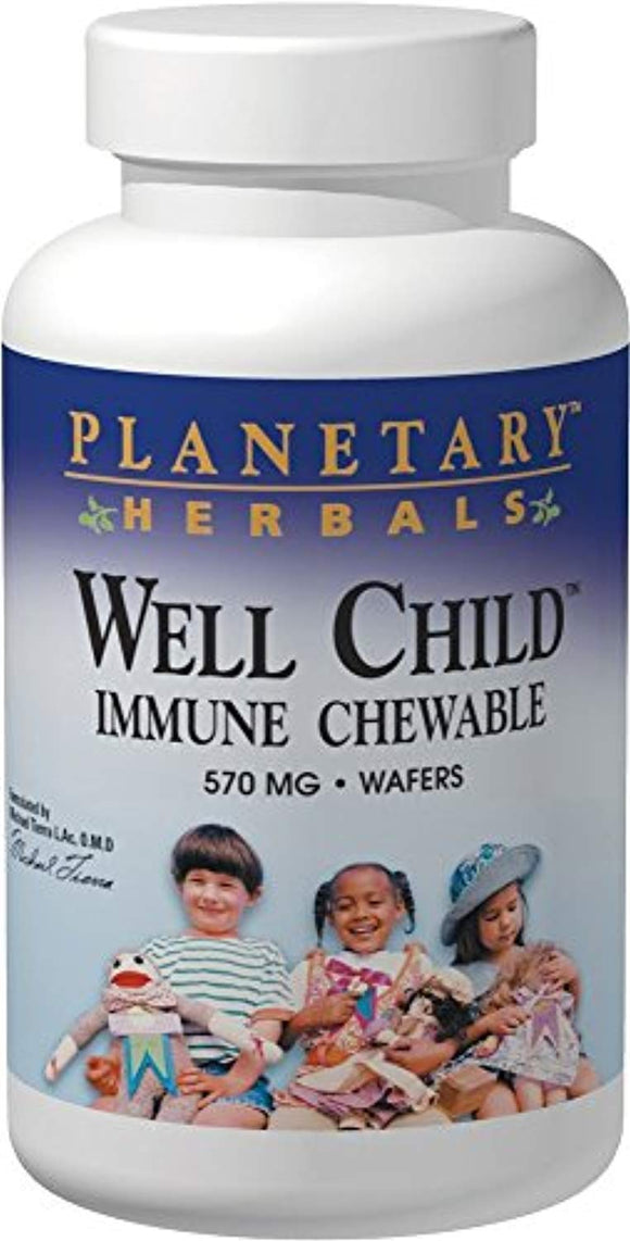 Planetary Herbals Well Child Immune Chewable Wafers
