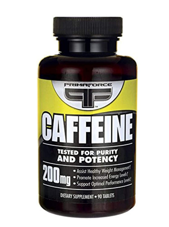 PrimaForce Caffeine Supplement,  90 Count 200mg Capsules – Boosts Metabolism / Sharpens Focus / Supports Optimal Physical Performance