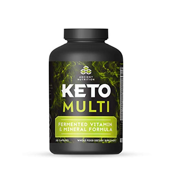 Ancient Nutrition KetoMULTI Vitamin and Mineral Supplement, 180 Capsules