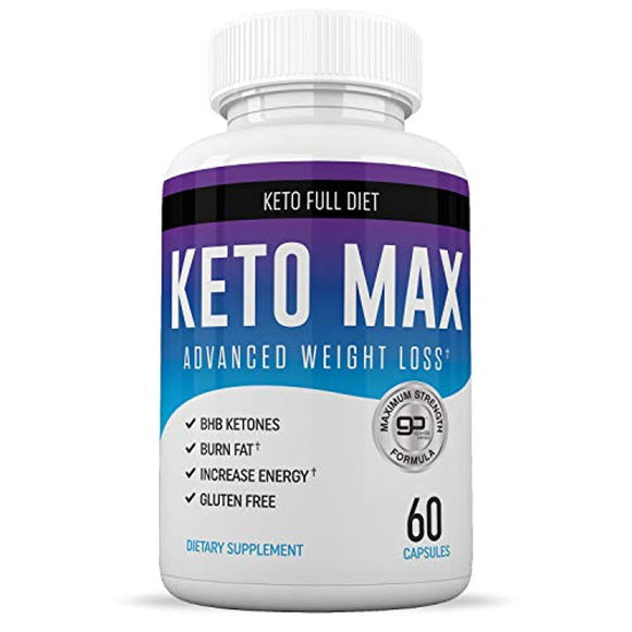 Best Keto Max Diet Pills from Shark Tank - Ketogenic Keto Weight Loss Pills for Women and Men  60 Capsules