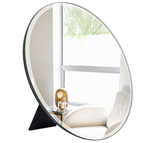 ANDY STAR Desk Mirror for Makeup, Small Round Mirror Wall Mounted