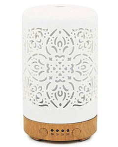 Elegant Life Essential Oil Diffusers Ultrasonic 100 ml White Ceramic Aromatherapy Diffuser