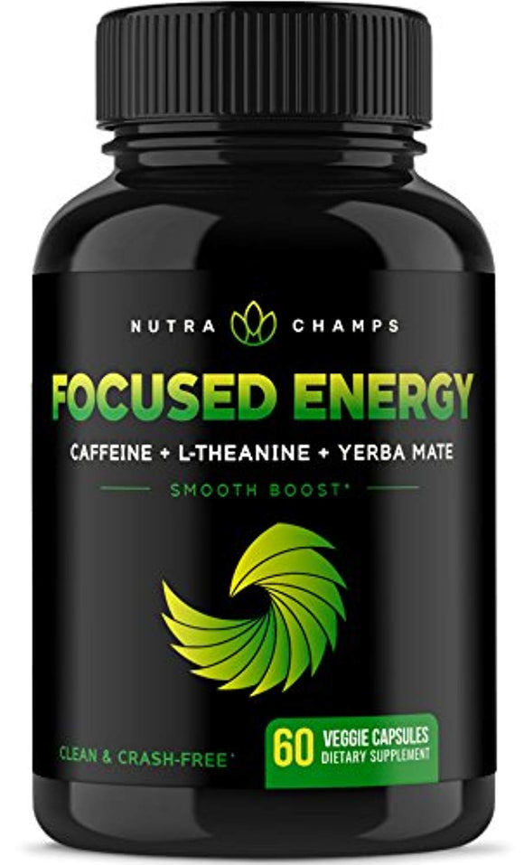 Caffeine with L-Theanine for Energy & Focus - Smooth & Clean Focused Energy 60 ct