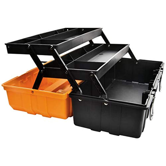 17-Inch Multi-Purpose 3-Layer Toolbox with Tray and Dividers