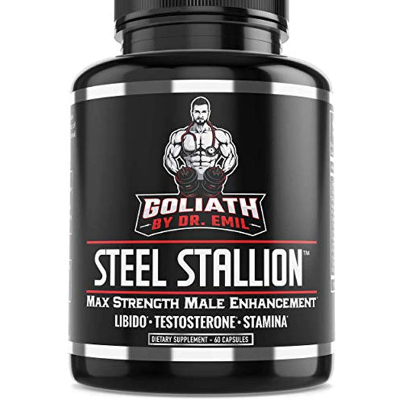 Goliath by Dr. Emil Steel Stallion - Male Enhancement Supplement - Libido & Testosterone Booster for Drive, Stamina